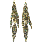 REDUCED Antique Georgian 18th Century Catalan 18K Earrings