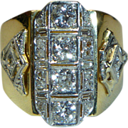 REDUCED Vintage 18K Gold Diamond Ring