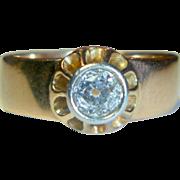 REDUCED Antique Edwardian Mine-cut Diamond & Rose Gold Ring