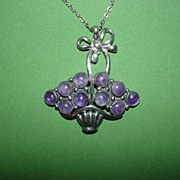 Lovely Mexican Floral Basket Necklace!