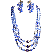 SALE Vintage Miriam Haskell Necklace & Earrings - Signed!!