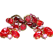 Marvelous D & E Juliana Siam Red Parure