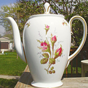 Rosenthal Petal Lane Moss Rose Coffee Pot--Continental Shape
