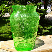 SOLD Consolidated Catalonian Green Triangular Vase