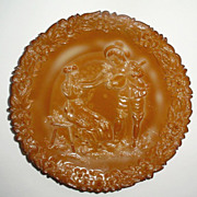 McKee Serenade  Chocolate Glass  Plate Early 1900's