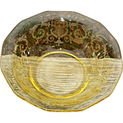 SOLD Fostoria Versailles Scarce Cereal Bowls Two Topaz Yellow