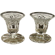 SOLD Heisey Ipswich Candle Vase Inserts Pair