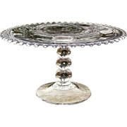 SOLD Candlewick Tall Cake Stand Imperial 400/103D