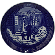Royal Copenhagen 1994 Christmas Plate Christmas Shopping