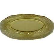 Fostoria June Topaz Yellow Celery Dish
