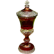 SALE PENDING Westmoreland Wakefield Ruby Stained Covered Urn