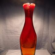 Circa 1964 Blenko Amberina Vase