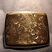 Birmingham Sterling Art Nouveau Card Case