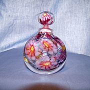 Art Glass Perfume Bottle- Signed by Artist Bernie Stonor