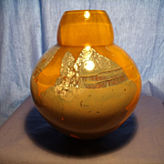 Modern Art Glass Gourd Vase-Signed