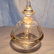 Art Glass Perfume with Paperweight Bottom