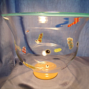 The Hot Sun Art Glass Bowl