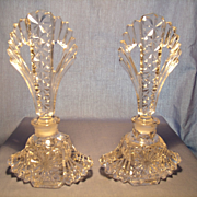 Pair of Vintage Czech Perfume Bottles