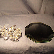 Swarovski Rose and Display Mirror