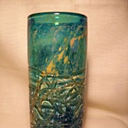Mdina Cylinder Vase with Trailings-Initial Year of Production