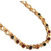 REDUCED Multicolored Rhinestone Necklace by Napier