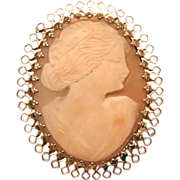 REDUCED Carved Shell Cameo from Coro