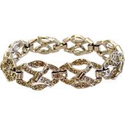 REDUCED 1940s Art Deco Rhinestone Bracelet