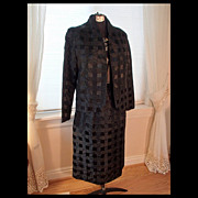 Women's Designer Suit - Black Tone on Tone