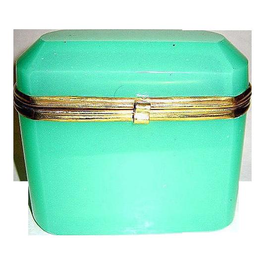 French 19th Century green opaline box