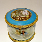 SOLD French Palais Royal Porcelain Casket with Hand-Painted Scenes