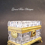 SOLD Super Quality Charles X Cut Crystal Casket