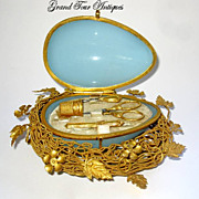 SOLD Palais Royal French Opaline Glass Etui, circa 1860