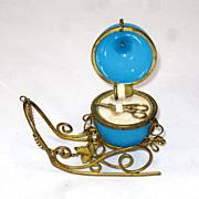 SOLD Palais Royal Etui Opaline Sleigh Sewing Set