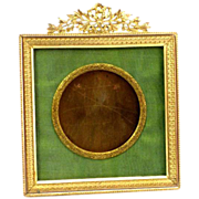 SOLD Antique French Empire Bronze and Ormolu Picture Frame