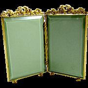 SOLD Napoleon III Dore Bronze Double Frame