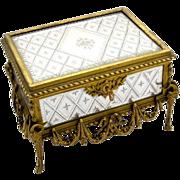 RARE Palais Royal French 19th Century Glass Casket Box