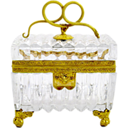 Rare Museum Quality Large Baccarat Casket with Fine Dore Mounts
