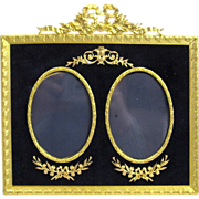 SOLD Antique Napoleon III Double Dore Bronze Frame