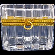 SOLD Antique Baccarat Cut Crystal Glass Casket Box