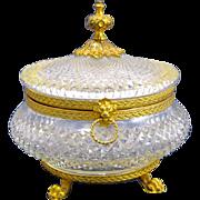 SOLD Antique Baccarat Cut Crystal casket Box