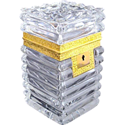Antique Charles X High Quality BACCARAT Cut Crystal Casket Box