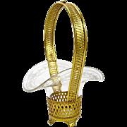 SOLD Antique Napoleon III Cut Crystal Dore Bronze Basket