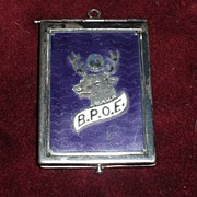 Vintage B.P.O.E  Lodge No. 7 Silver and Purple Guilloche' receipt / watch fob .