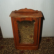 SALE PENDING ON HOLD Oak antique Schneegas doll house Mirrored Closet / wardrobe