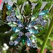 SALE PENDING Springtime Juliana Butterfly brooch and earrings! Big, bold & beautiful!