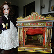 SALE PENDING Antique Miniature Toy Opera Theater  1800's