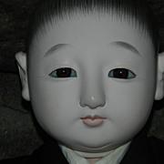 "SALE PENDING Vintage Japanese 14"" ichimatsu boy doll stunning! all Original"