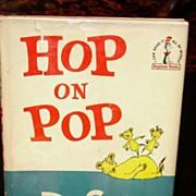 SALE Hop on Pop 1st edition 1st Printing w Dust Jacket 1963 Dr Seuss