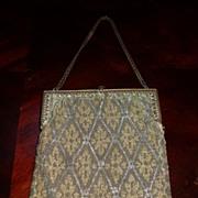 Wonderful antique micro beaded purse