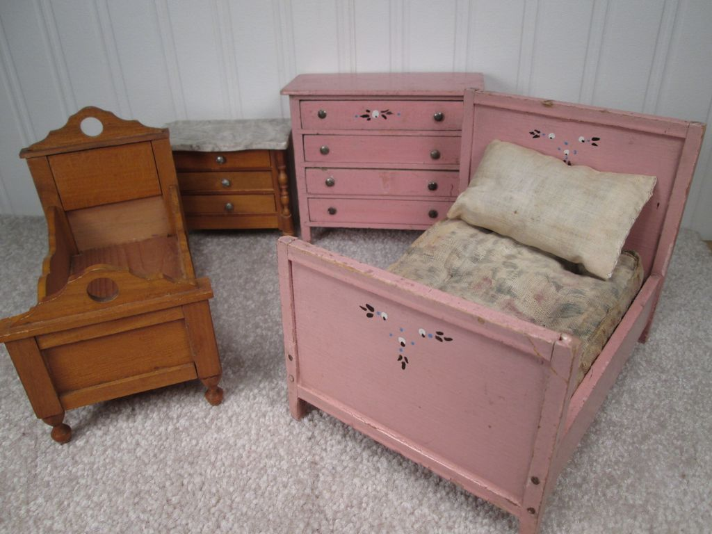 vintage doll house furniture bedroom set larger scale from